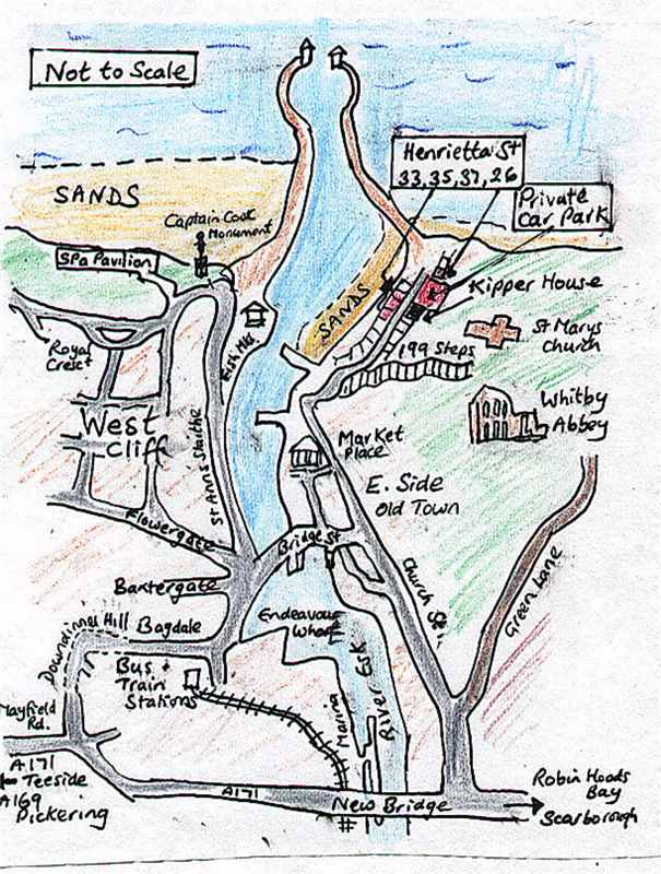Sketch Map of Eastcliff Cottages